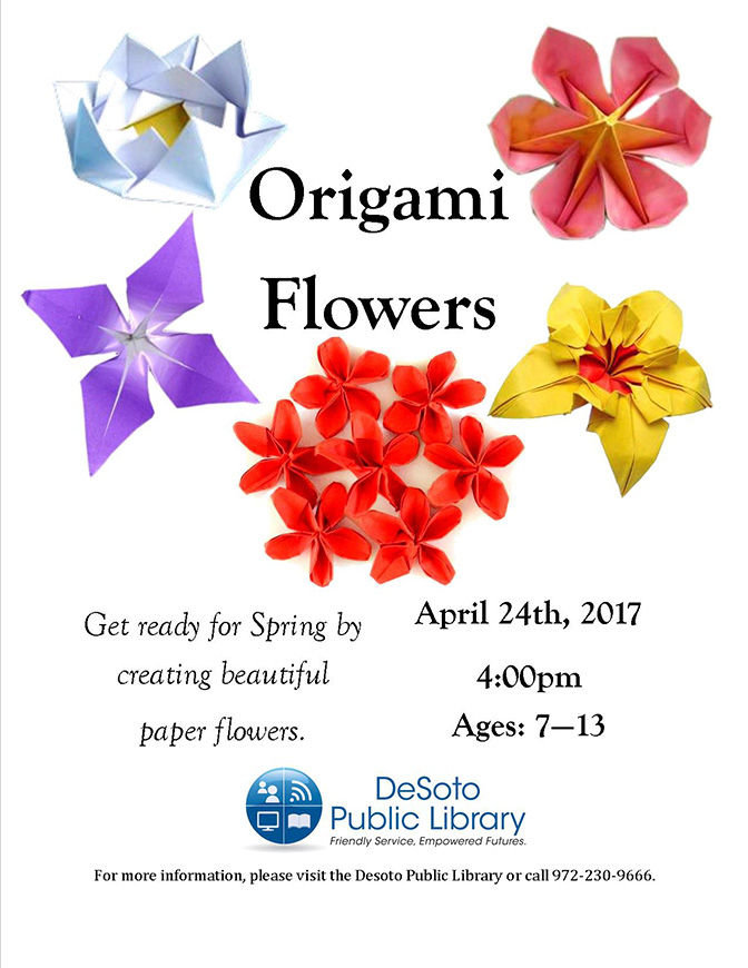Origami Flowers Flyer