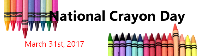 National Crayon Day Banner 2017