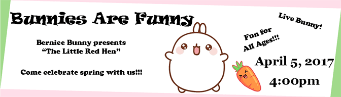 Bunnies Are Funny Banner 2017