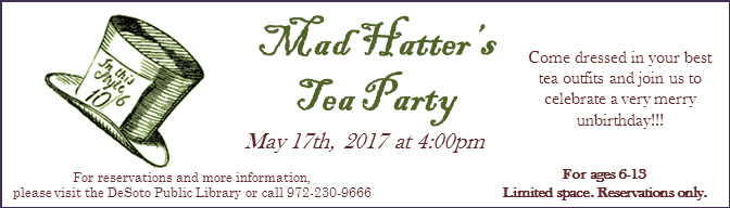 Mad Hatters Tea Party Banner