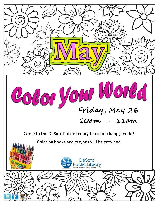 Color Your World flier May 2017
