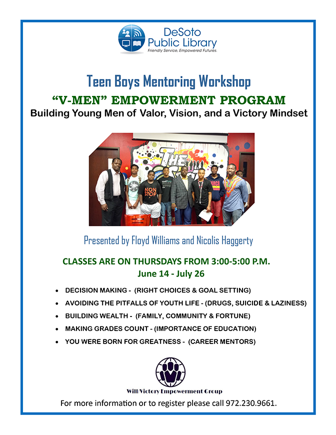 Teen Boy Mentoring Flyer