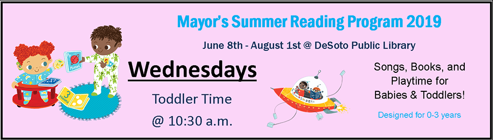 Mayor's Summer Reading 2019--Wednesdays banner
