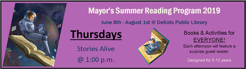 Mayor's Summer Reading 2019--Thursdays banner
