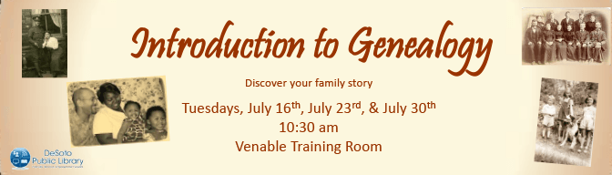 July 2019 Introduction to Genealogy