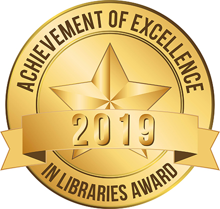 Achievement of Library Excellence 2019 Award