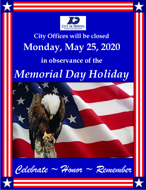 Memorial Day 2020 Closure