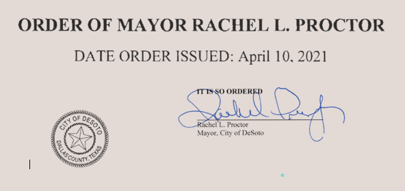 040921 Mayor Order Header