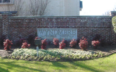Wyndmere entry sign