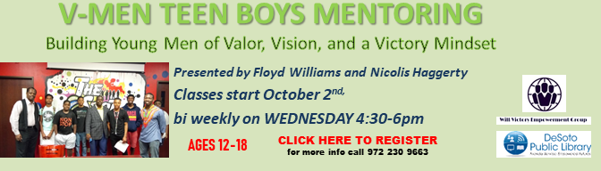 Fall 2019 V-Men Empowerment Program--click here to sign up!