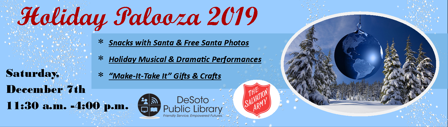 Holiday Palooza 2019--click here for more details