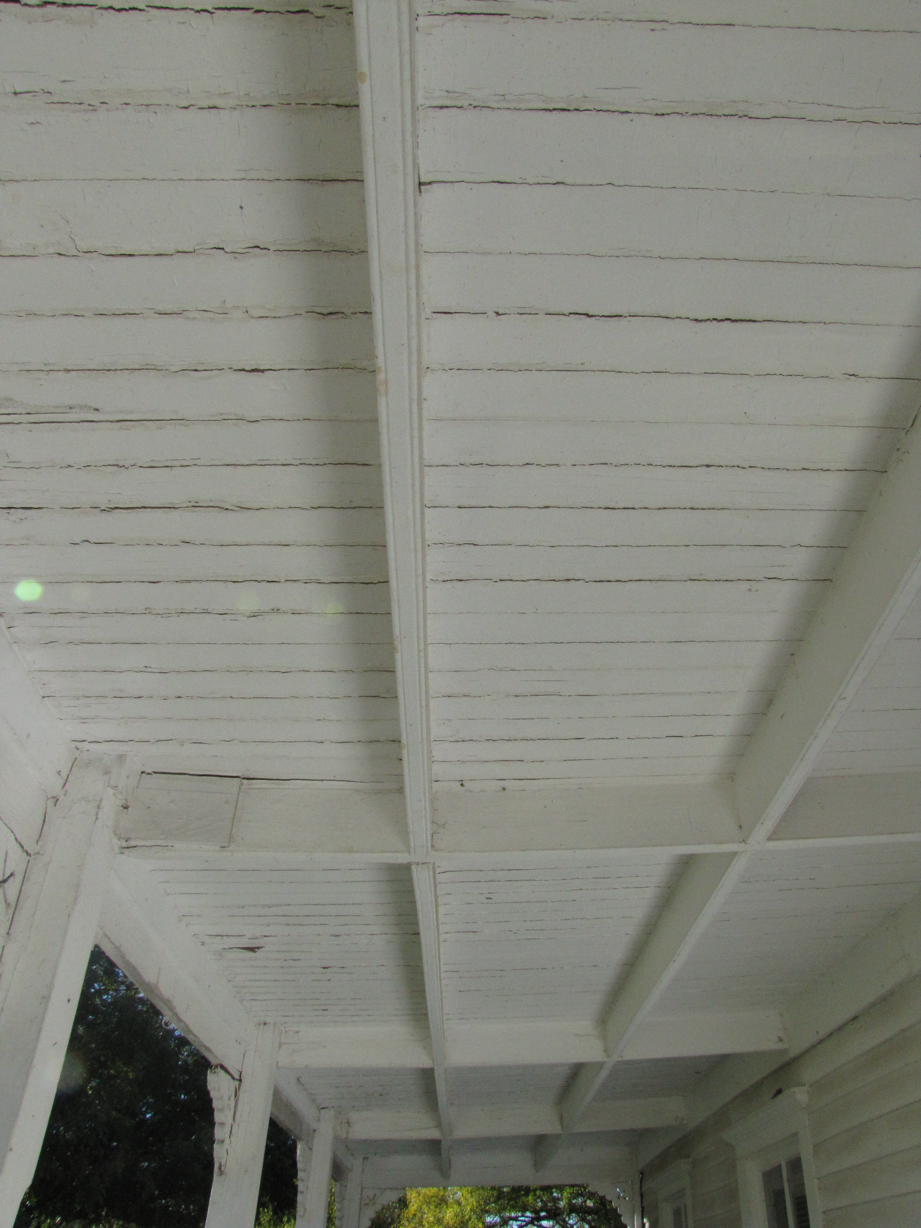 Ceiling of Downstairs Front Porch, Facing South (1