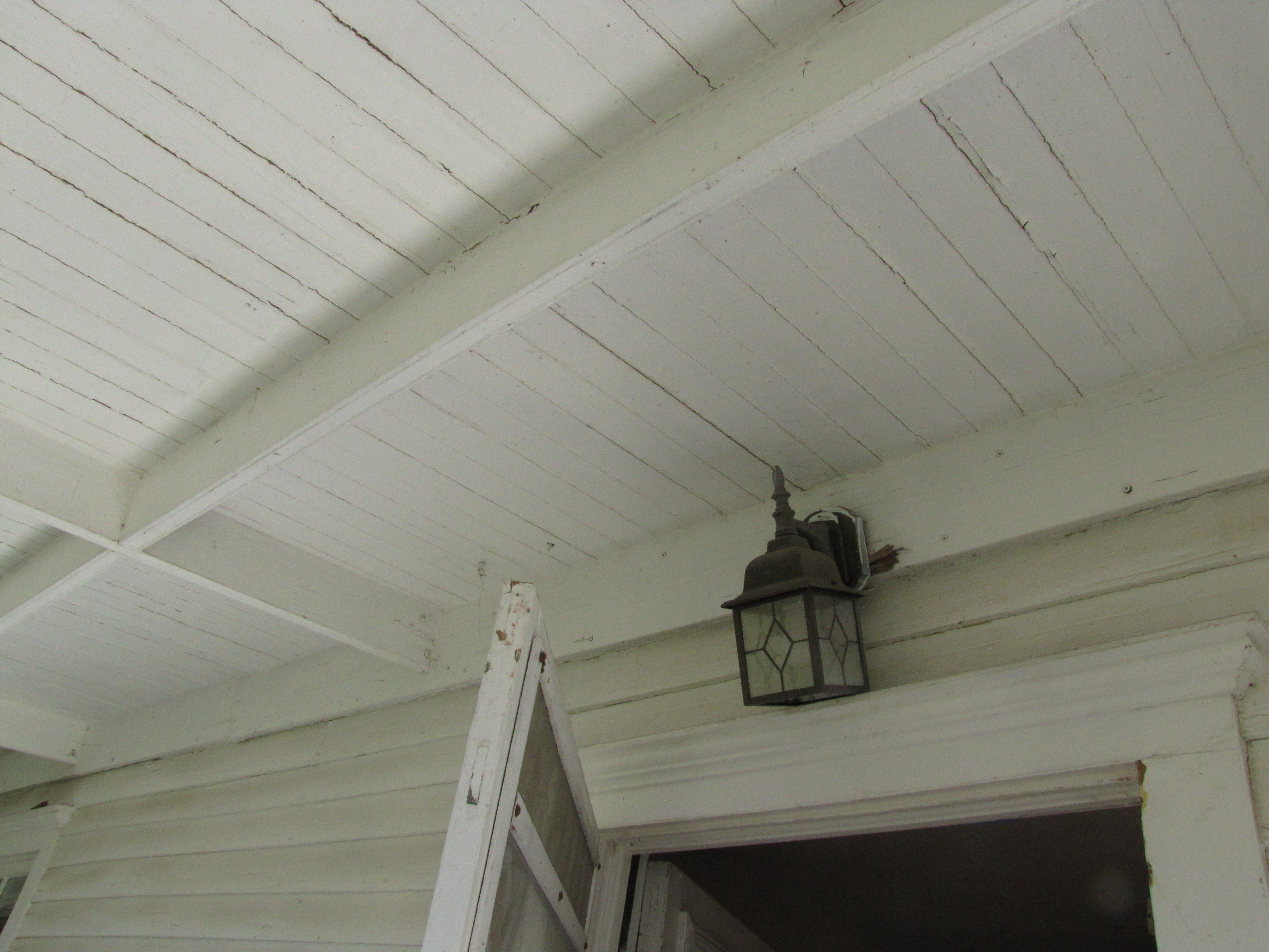Exterior Light Fixture Above Downstairs Front Entr