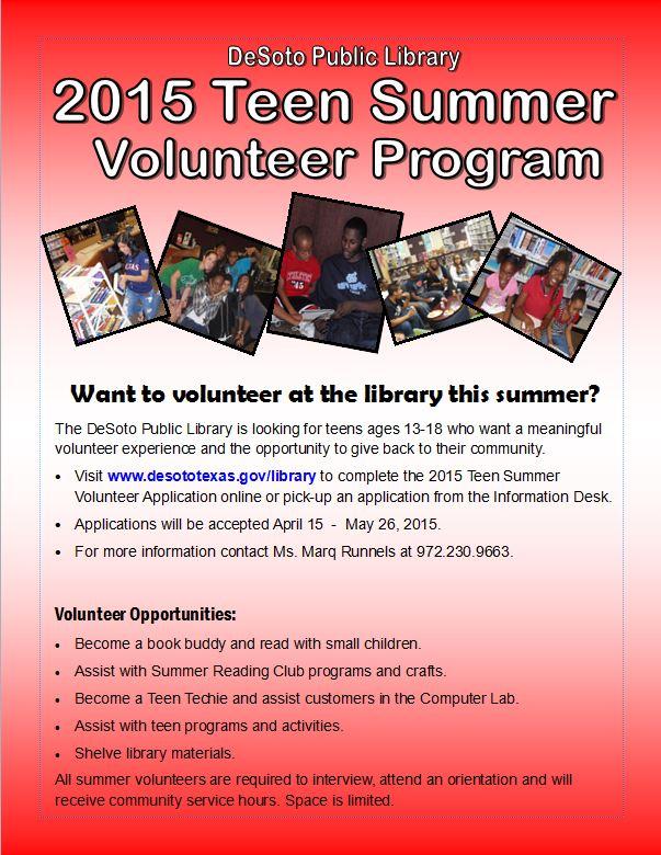 dallas tx summer teens volunteer