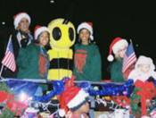 K.D. Bee in Annual Christmas Parade