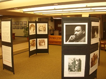 Martin Luther King, Jr. photo display