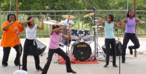 Performers at Juneteenth Celebration