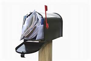 Cluttered mailbox