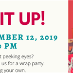 Wrap It Up! Holiday Wrap Party 2019 banner