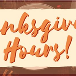 Thankgiving Hours Library banner