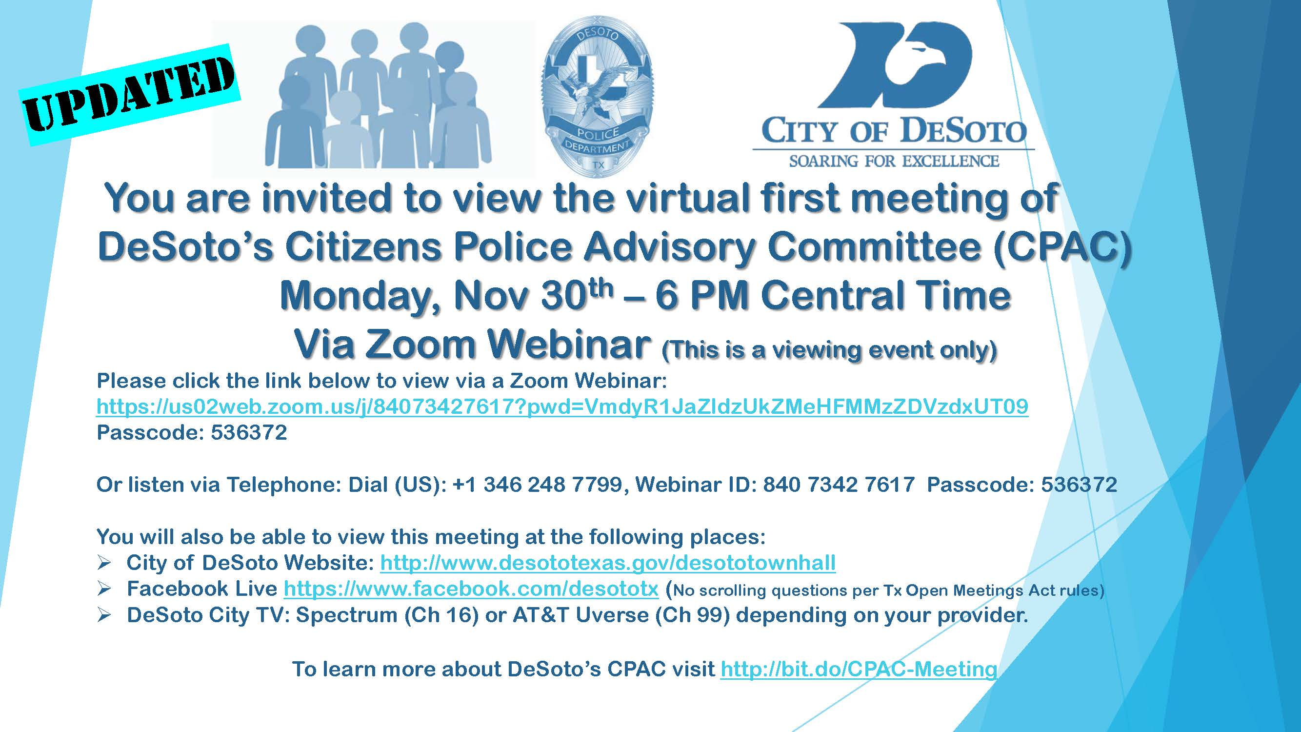 112520 DeSoto CPAC Meeting Flyer REVISED