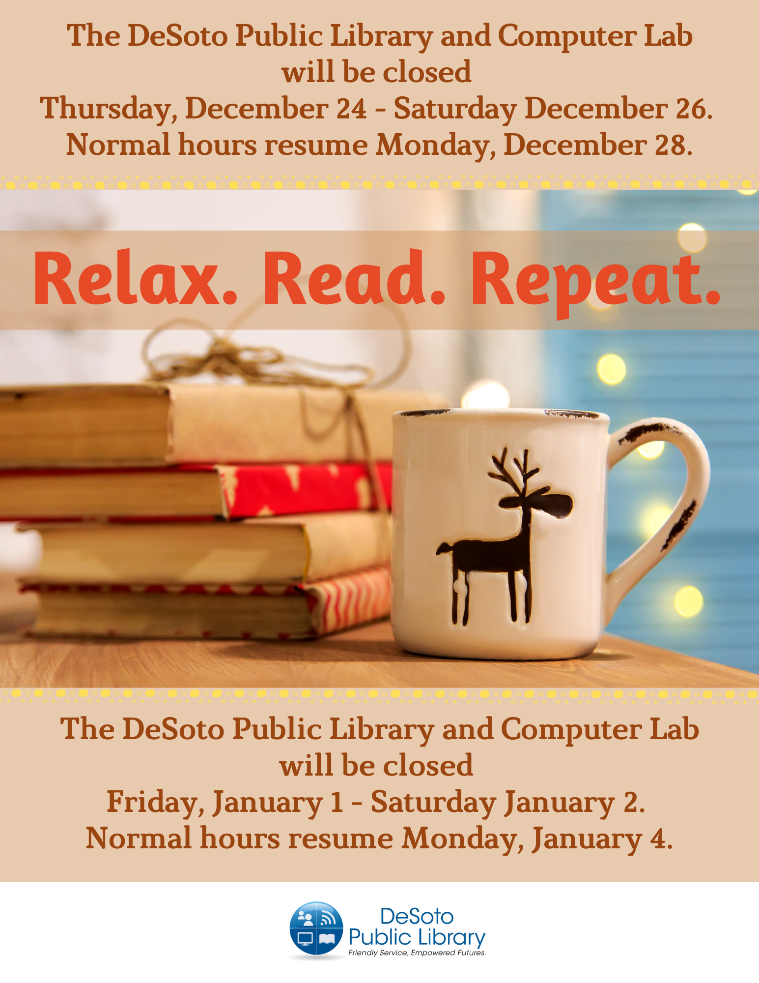 2020 DeSoto Public Library Winter Holiday Hours image