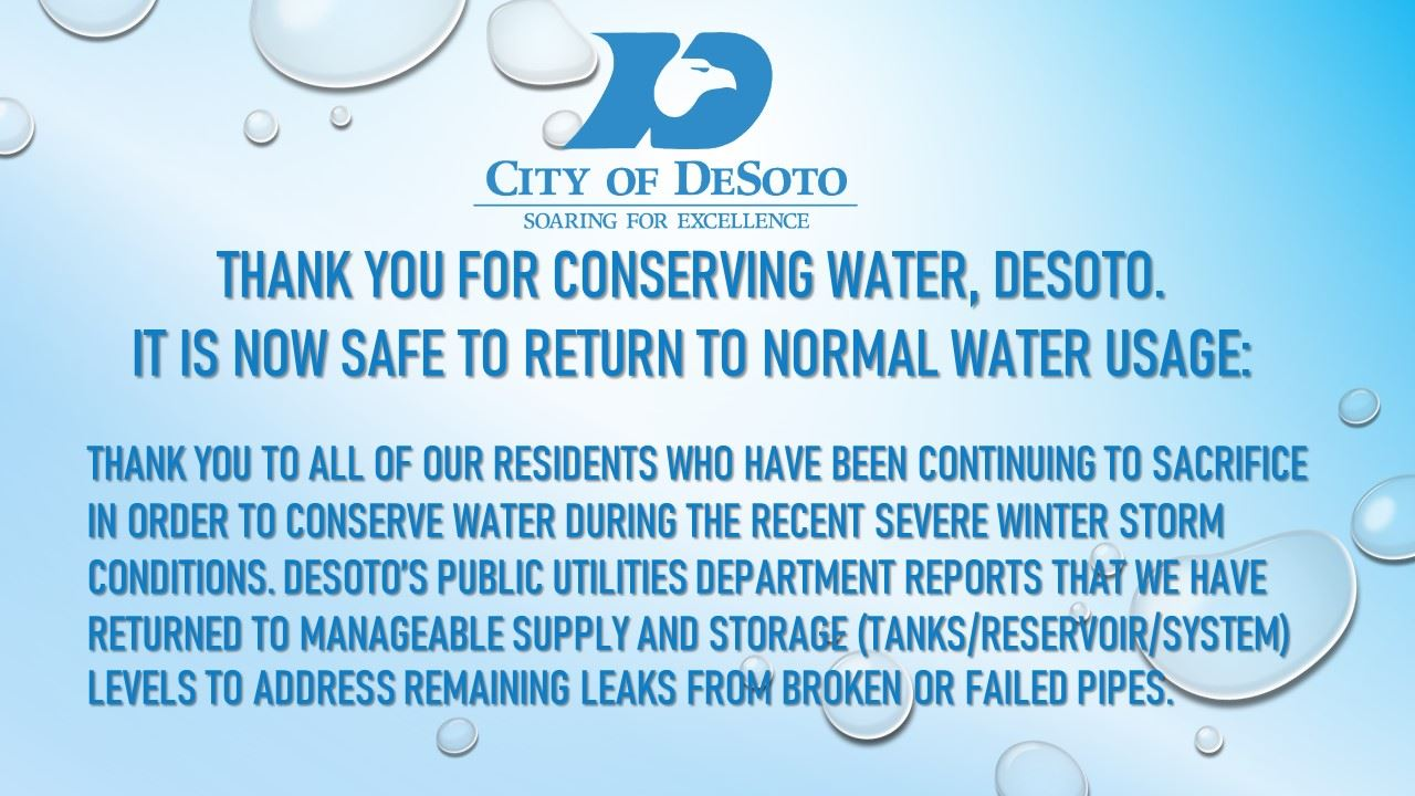 WATER CONSERVATION ENDS