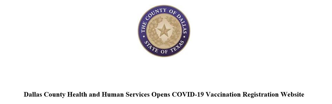 Dallas County Vaccination Website Header
