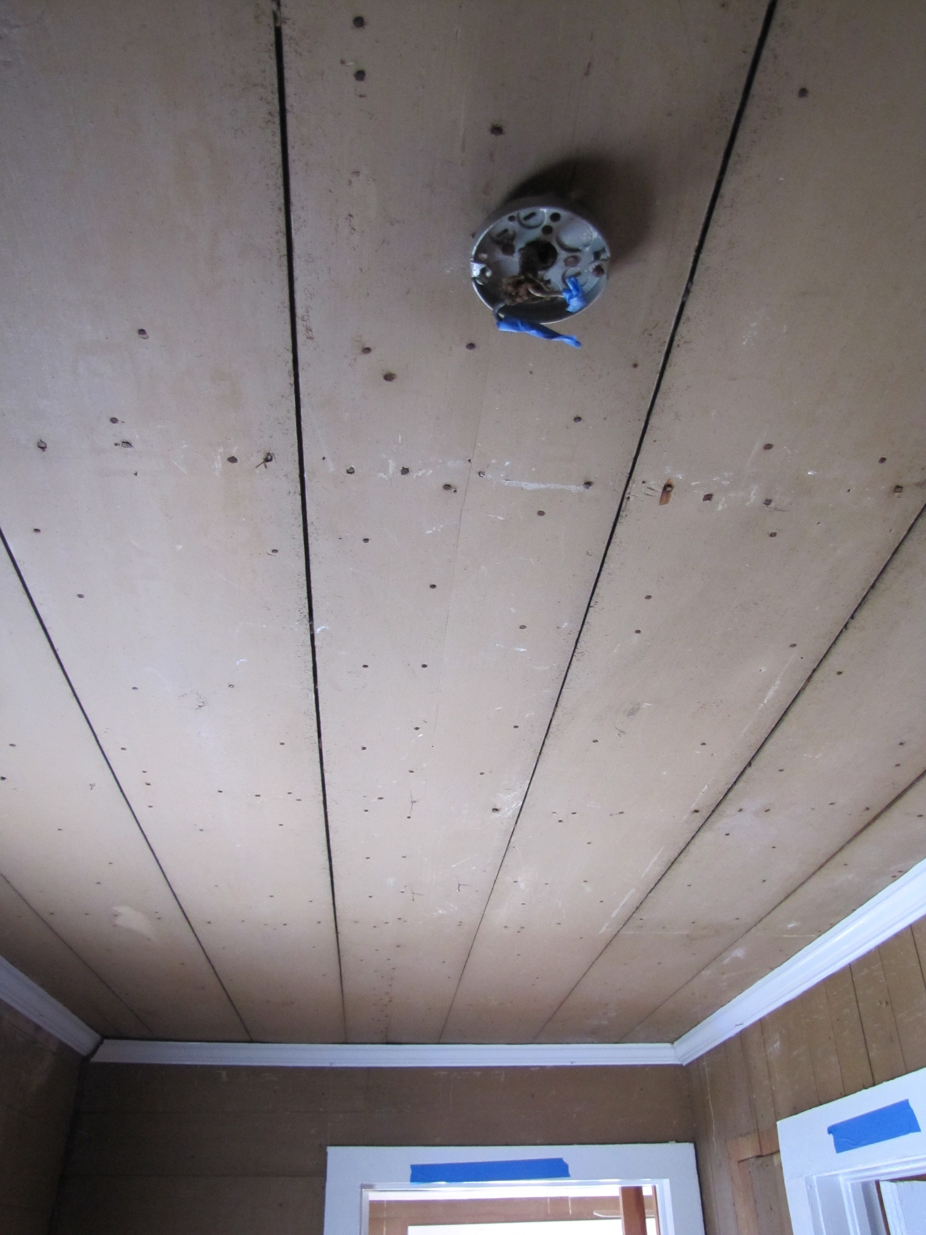 Ceiling and Light Fixture of Upstairs Hallway, Fac
