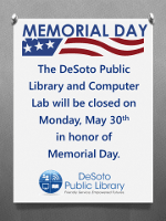 Memorial Day Closing Announcement